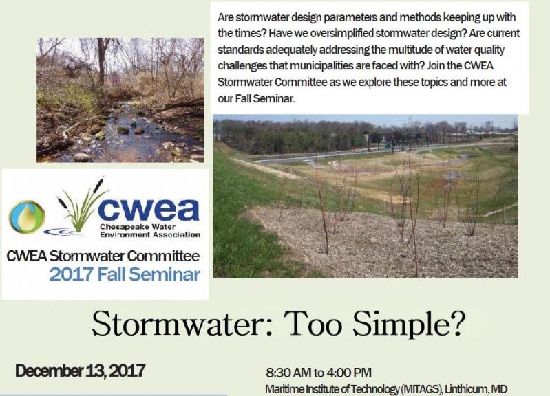 CWEA Stormwater Committee 2017 Fall Seminar